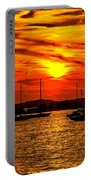 Sunset On Muskegon Lake Portable Battery Charger