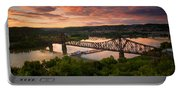 Sunset On Ohio River  Portable Battery Charger