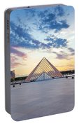 Sunset On The Louvre Portable Battery Charger