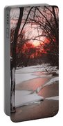 Sunset On The Red Cedar Portable Battery Charger