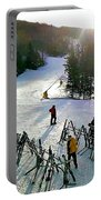 Sunset On The Slopes Portable Battery Charger
