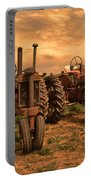 Sunset On The Tractors Portable Battery Charger