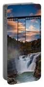 Sunset On The Upper Falls Portable Battery Charger