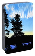 Sunset On Wickiup Portable Battery Charger