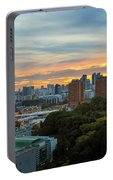 Sunset Over Clarke Quay And Fort Canning Park Portable Battery Charger