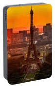 Sunset Over Eiffel Tower Portable Battery Charger