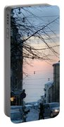 Sunset Over Helsinki Portable Battery Charger