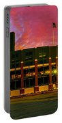 Sunset Over Lambeau Field Portable Battery Charger