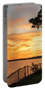 Sunset Over Lynch Park Beverly Ma Water Tower Portable Battery Charger