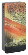Sunset Over Mountains Portable Battery Charger
