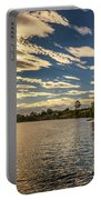 Sunset Over Murray River In Mildura, Australia Portable Battery Charger