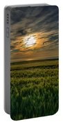 Sunset Over North Pas De Calais In France Portable Battery Charger