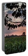 Sunset Over The Plains Portable Battery Charger