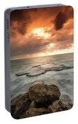 Sunset Over The Sea In Israel Portable Battery Charger