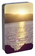 Sunset Over The Straits Portable Battery Charger by Cindy Garber Iverson