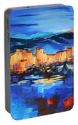 Sunset Over The Village 2 By Elise Palmigiani Portable Battery Charger