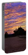 Sunset Over The Wheat Fields Portable Battery Charger