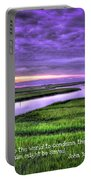Sunset Over Turners Creek John 3 17 Portable Battery Charger