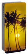 Sunset Palms And Family Portable Battery Charger