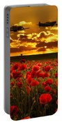 Sunset Poppies Fighter Command Portable Battery Charger