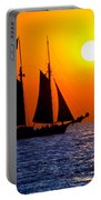 Sunset Sailing In Key West Florida Portable Battery Charger