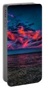 Sunset Sky At East Point Portable Battery Charger
