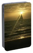 Sunset Through Sailboat Portable Battery Charger
