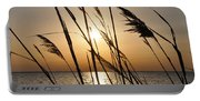 Sunset Through The Dune Grass Portable Battery Charger