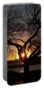 Sunset Through The Tree Portable Battery Charger