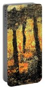 Sunset Through The Trees Portable Battery Charger