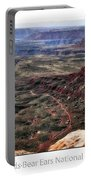 Sunset Tour Valley Of The Gods Utah Text 04 Portable Battery Charger