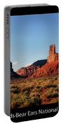 Sunset Tour Valley Of The Gods Utah Text 09 Black Portable Battery Charger