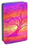 Sunset Tree Cats Portable Battery Charger