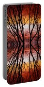 Sunset Tree Silhouette Abstract 2 Portable Battery Charger