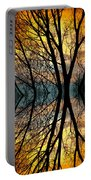 Sunset Tree Silhouette Abstract 3 Portable Battery Charger