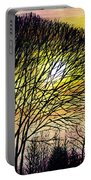 Sunset Tree Silhouette Portable Battery Charger