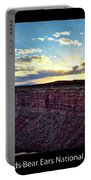 Sunset Valley Of The Gods Utah 03 Text Black Portable Battery Charger