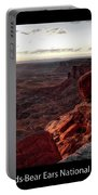 Sunset Valley Of The Gods Utah 09 Text Black Portable Battery Charger