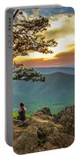 Sunset View At Ravens Roost Panorama Portable Battery Charger