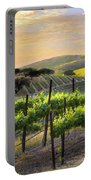 Sunset Vineyard Portable Battery Charger by Sharon Foster