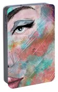 Sunset - Woman Abstract Art Portable Battery Charger