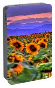 Sunsets And Sunflowers Portable Battery Charger