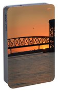 Sunset's Last Light Bridges Over Jamaica Bay Portable Battery Charger
