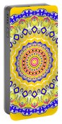Sunshine And Blue Skies Mandala Portable Battery Charger
