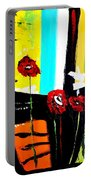 Sunshine And Poppies Portable Battery Charger