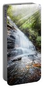 Sunshine At The Waterfall Portable Battery Charger