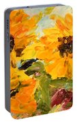 Sunshine On A Cloudy Day Portable Battery Charger by Barbara Pirkle