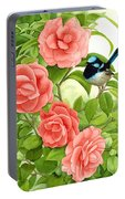 Superb Wren And Camellia Portable Battery Charger