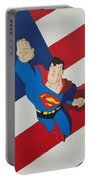 Superman And The Flag Portable Battery Charger