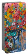 Supermarket Flowers Portable Battery Charger